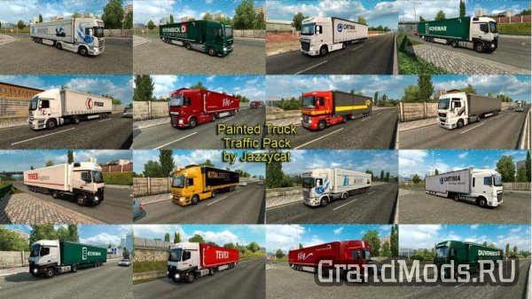 Painted Truck Traffic Pack v4.0  [ETS2 v.1.28]
