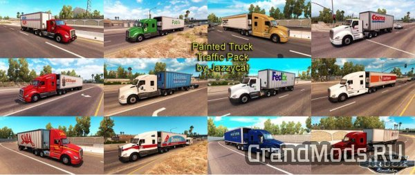 Painted Truck and Trailers Traffic Pack v1.0.2 [ATS]