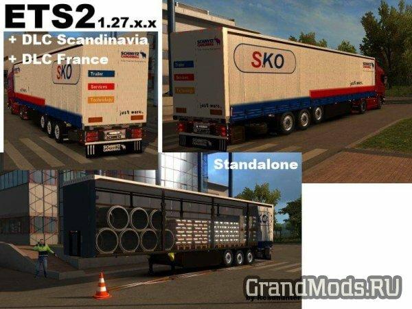 Schmitz SKO flatbed trailer building material v 4.0 [ETS2]