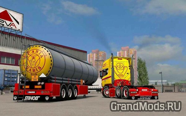 Scania RJL Red & Yellow Combo Pack + Accessory [ETS2]