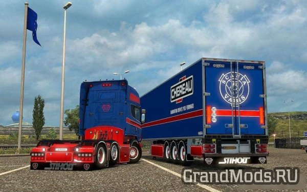 Scania RJL Red & Blue Skin Combo Pack + Accessory v 1.1 [ETS2]