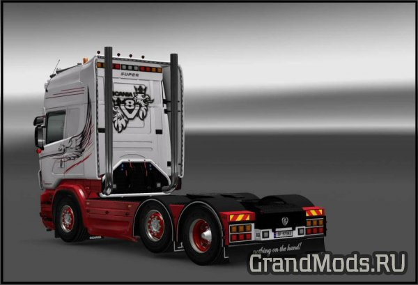 ​​​​​​​Griffin White Skin for Scania RJL [ETS2]