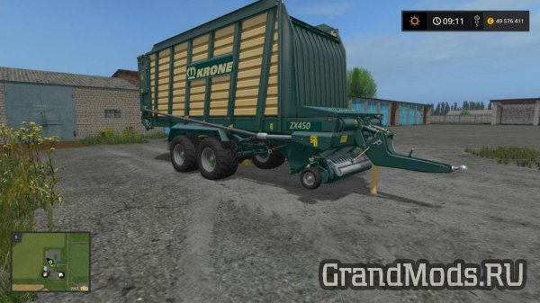 Фуражный прицеп Krone ZX 450 [FS17]