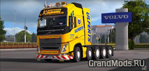 Volvo FH 2012 8×4 and 10×4 V10.1 [ETS2 1.31]