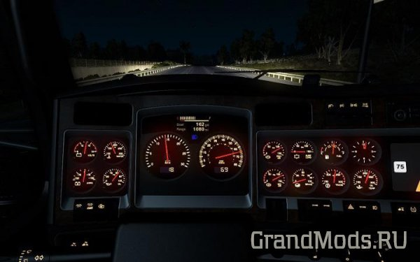 Kenworth W900 dashboard [ATS]