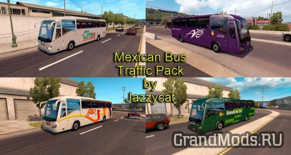 Mexican Bus Traffic Pack v 1.0 [ATS]