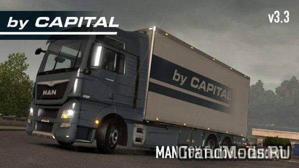 MAN TGX Euro6 Tandem - ByCapital v3.3 [ETS2]