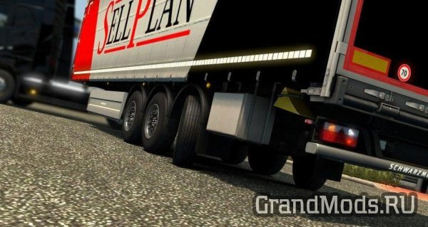 Steerable Axles for schwarzmuller curtain trailer [ETS2]