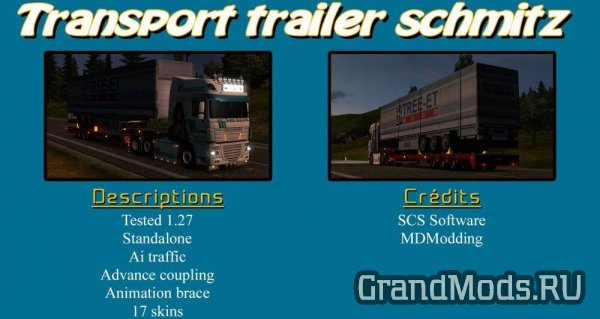 TRANSPORT TRAILER SCHMITZ [ETS2 v.1.27]
