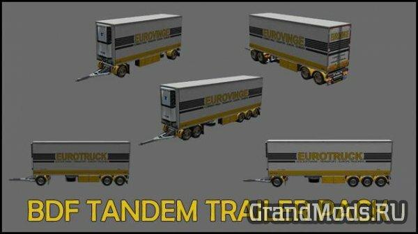 BDF Tandem Trailer Pack v1.5 [ETS2 v.1.28]