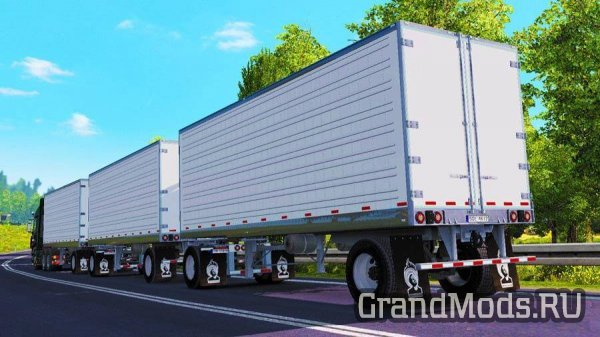 TRIPLE TRAILER MOD – AMERICAN REEFER V1.28 [ETS2]
