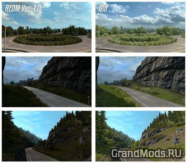 Realistic Environment Overhaul Mod V 1.4.1 [ETS2]