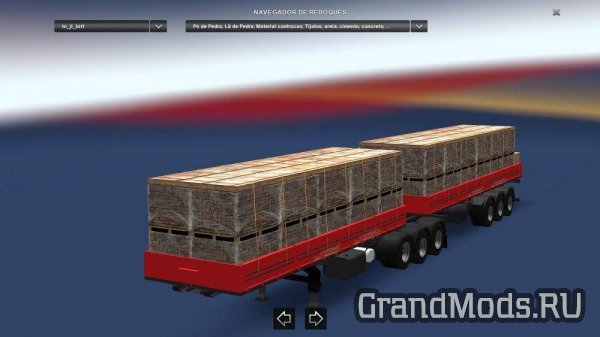Double Articulated Trailer to Traffic and Cargo Pack V.3.1 [ETS2]