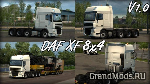 DAF XF 8X4 CHASSIS BY CRAZYGIJS [ETS2]