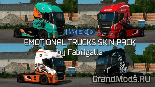 Emotional Trucks Skin Pack IVECO Stralis [ETS2]