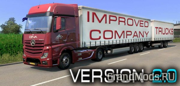 Improved company trucks v2.0 [ETS2 1.28]