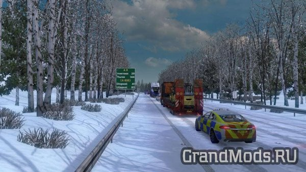 Frosty Winter Weather Mod v8.0 [ETS2]