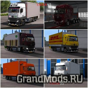 Mercedes Actros Mp4 V1.20 [ETS2]