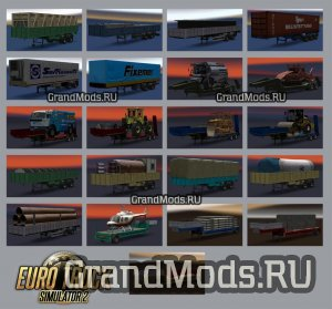 RUSSIAN TRAILERS PACK V1.0 BY SELIVYORSTOFF [ETS2]