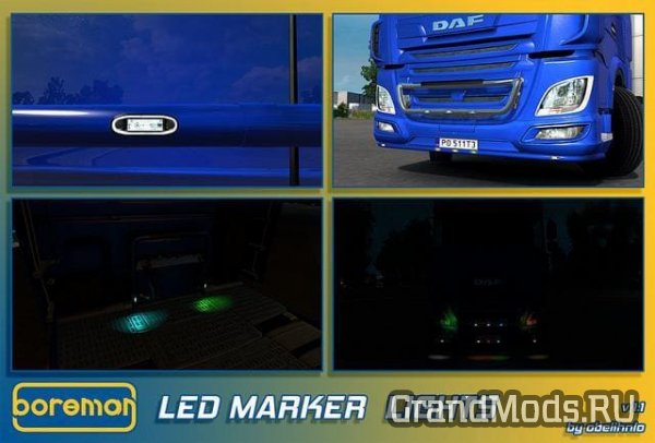Boreman LED Marker Lights v1.11 [ETS2]