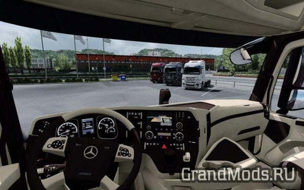 Mercedes Benz MP4 CMI Beige Brown Interior [ETS2]