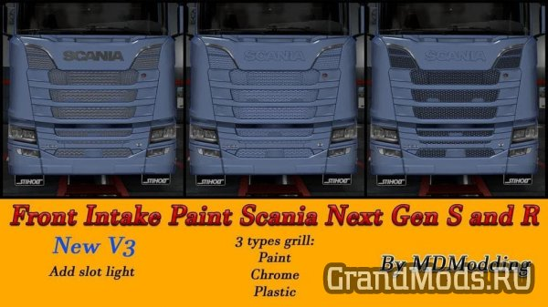 Front Intake Full Paintable Scania Next Gen [ETS2]