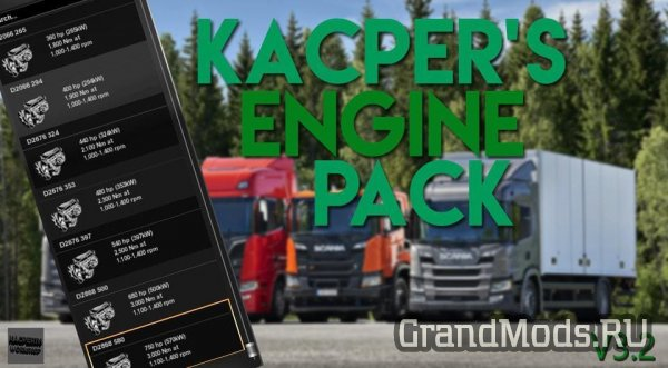 Kacper's Engine Mega Pack v3.2[ETS2]