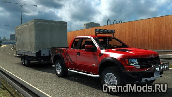 Ford F-150 SVT Raptor v2.3 + Mini Trailer [ETS2]
