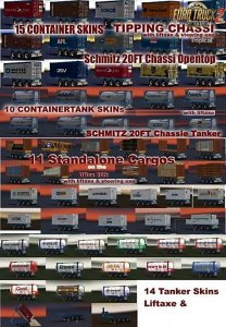 Schmitz 3axe 20ft Pack v2.0 [ETS2]