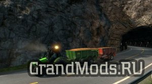 Tractor with trailers in traffic v1.12  [ETS2]