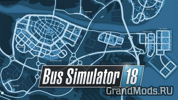 Игровая территория в Bus Simulator 18