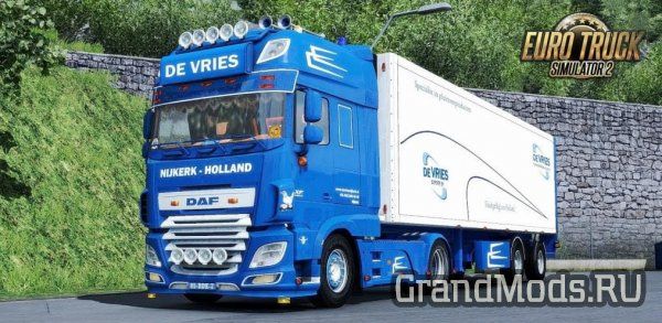 DAF XF 116 De Vires + Trailer (Recovered) [ETS2]