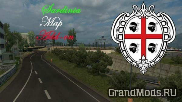 Sardnia Map Add-on v0.9 [ETS2]