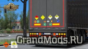 Signs on your Trailer v 0.0.43.00 (beta) [ETS2]