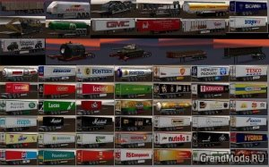 Chris45 Trailers Pack v 9.13 [ ETS2 1.34]