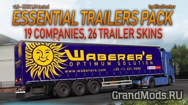 Скинпак Essential Trailers Pack для ETS 2