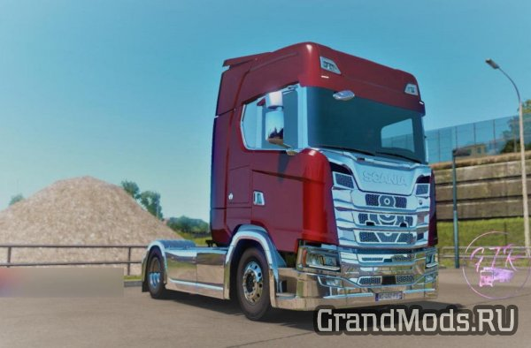 Scania S & R Next Gen Accessories Chrome v1.1 для ETS 2