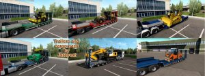 Прицепы Overweight Trailers and Cargo Pack для ETS 2