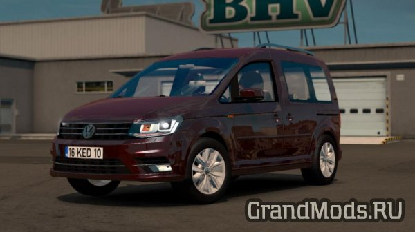 Мод автомобиля Volkswagen Caddy V1R5 для ETS 2