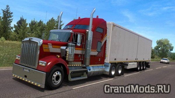 Грузовик Kenworth W900B GTM Team для ETS2