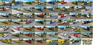 Painted Truck Traffic Pack v10.3  [ETS2 v.1.36]