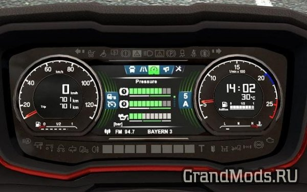 Scania S dashboard computer  [ETS2]