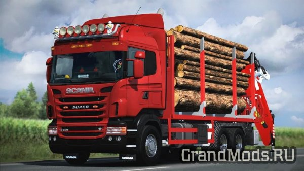 "Мод лесовоза ""Scania R RJL Rigid Forest Parts"" для ETS 2"