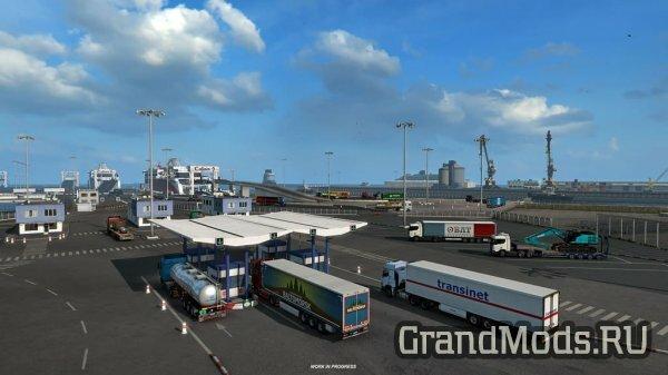 Обновление города Кале в ETS2 1.39