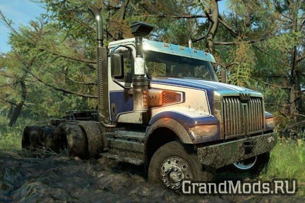 SnowRunner пополнит новый грузовик Western Star 49X