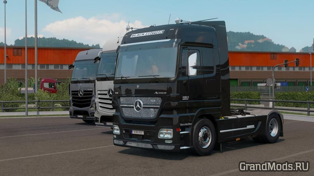 Грузовик Mercedes-Benz Actros MP2 Black Edition для ETS2 1.39