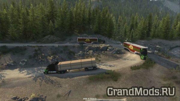 Геймплей мультиплеера  Convoy Co-op для ATS и ETS2