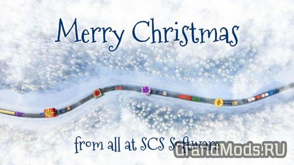 Команда SCS Software желает нам, счастливых праздников!
