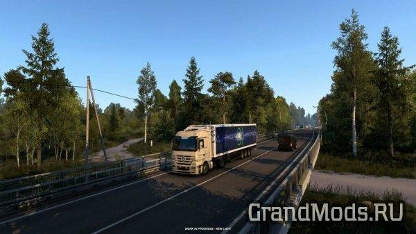 Новые кадры из нераскрытого DLC России для ETS2