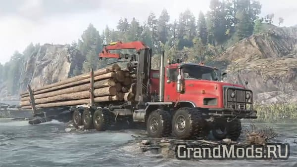Новый грузовик International PayStar 5600TS для SnowRunner